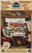 Vintage Travel Poster Dining Cars Cincinati